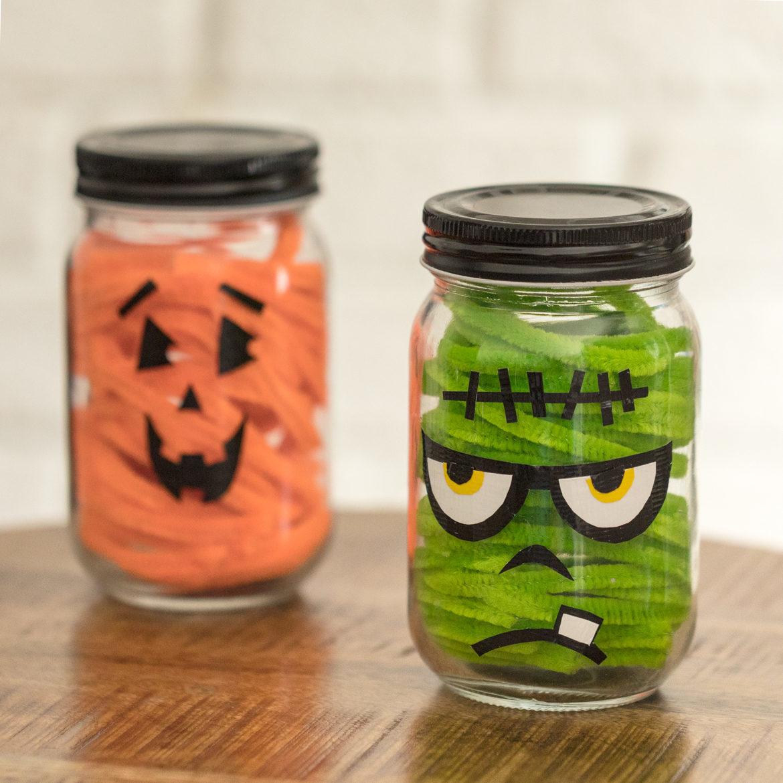 halloween mason jars: easy + affordable halloween décor | duck brand
