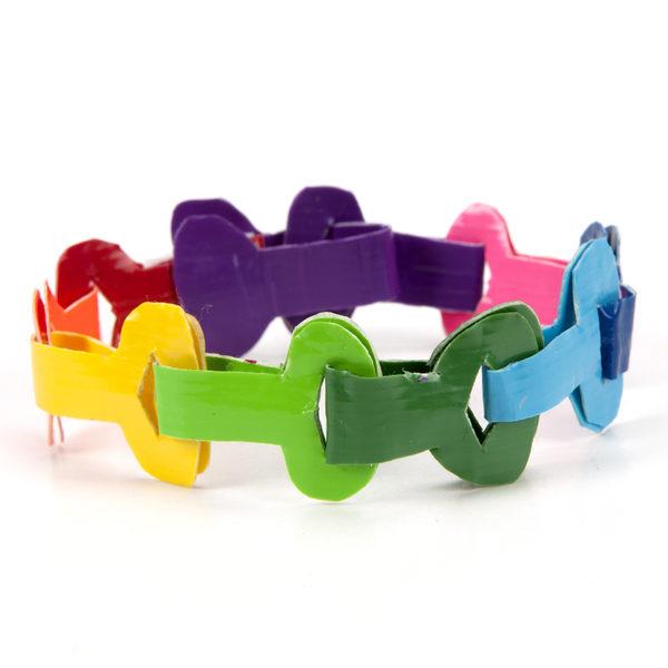 Completed  Duck Tape® Key Link Bracelet