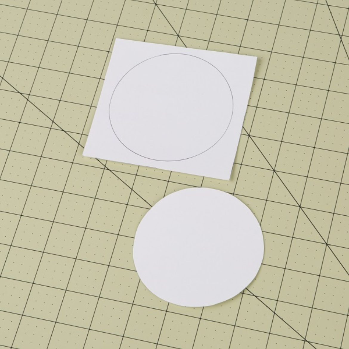 Circle cut out of a piece of cardstock