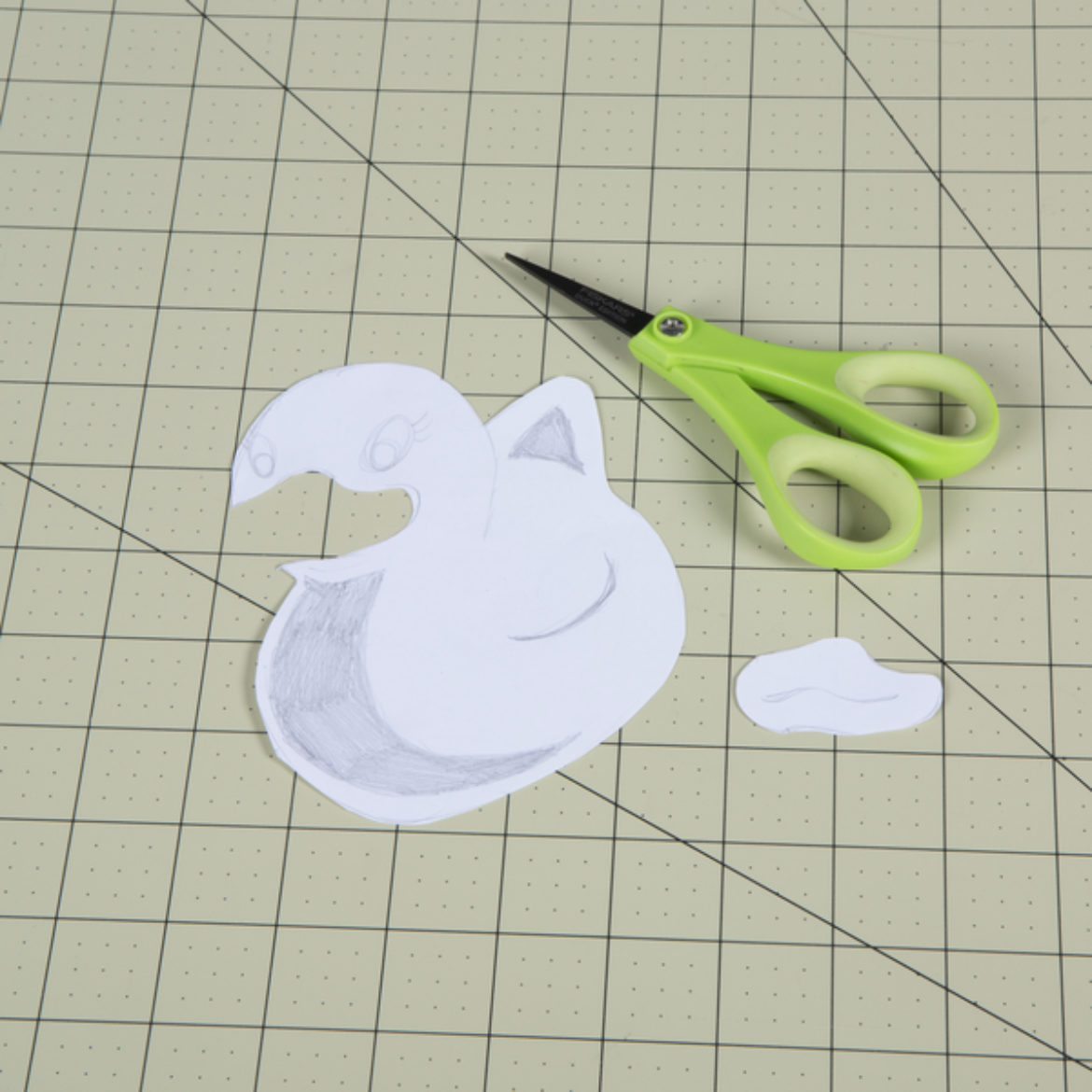 Beak piece from the picture from step one cut out