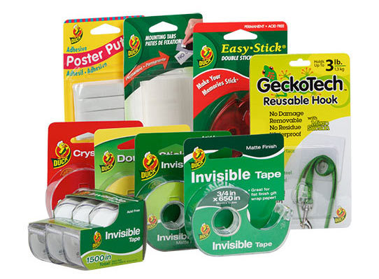 <p>With a variety of invisible tapes and mounting products, Duck®brand products help keep your home or office neat and organized. Whether you need to hang a picture, wrap a gift or add color to your workspace, these products can help you get it done right.</p>
