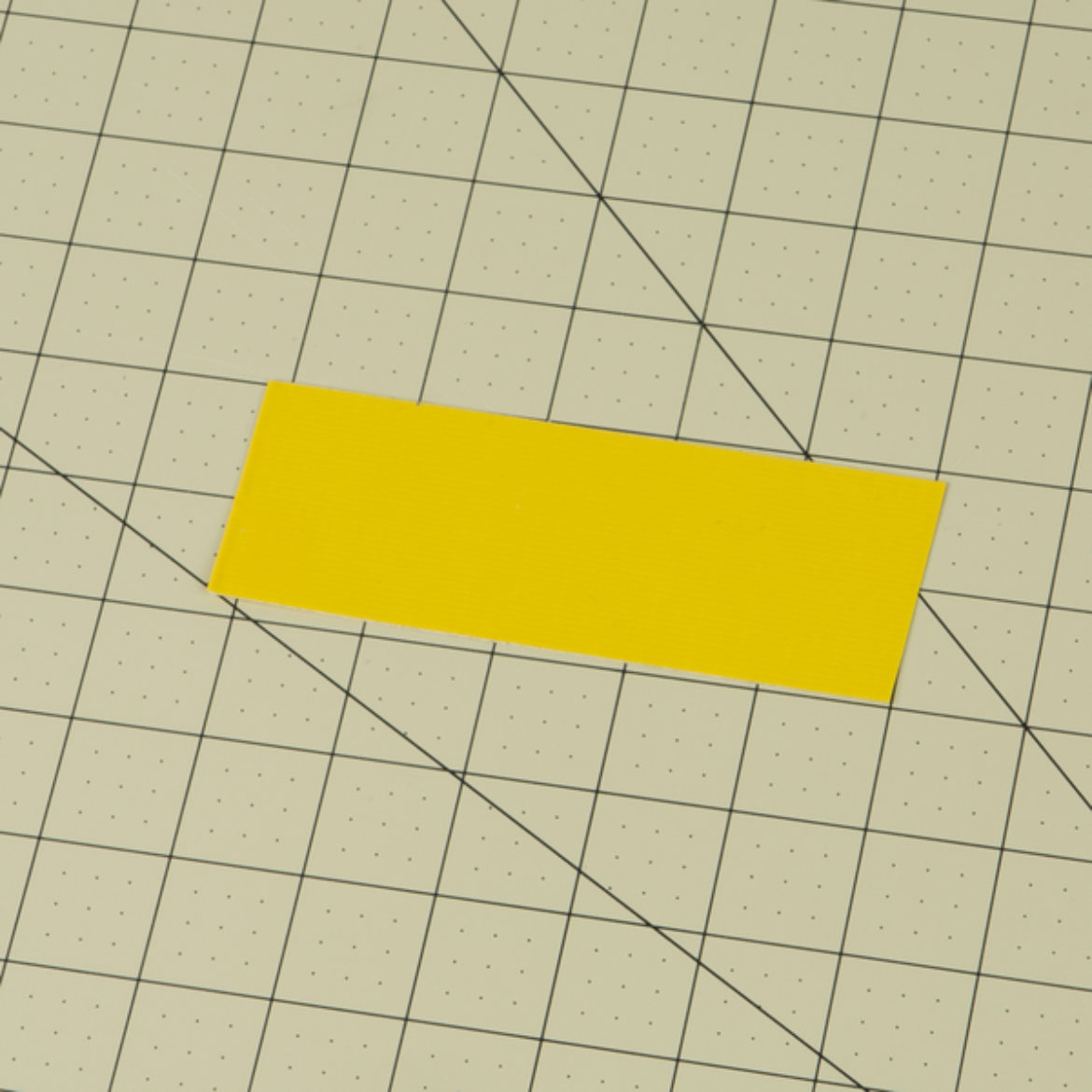 duck tape fabric made from two strips of yellow Duck Tape
