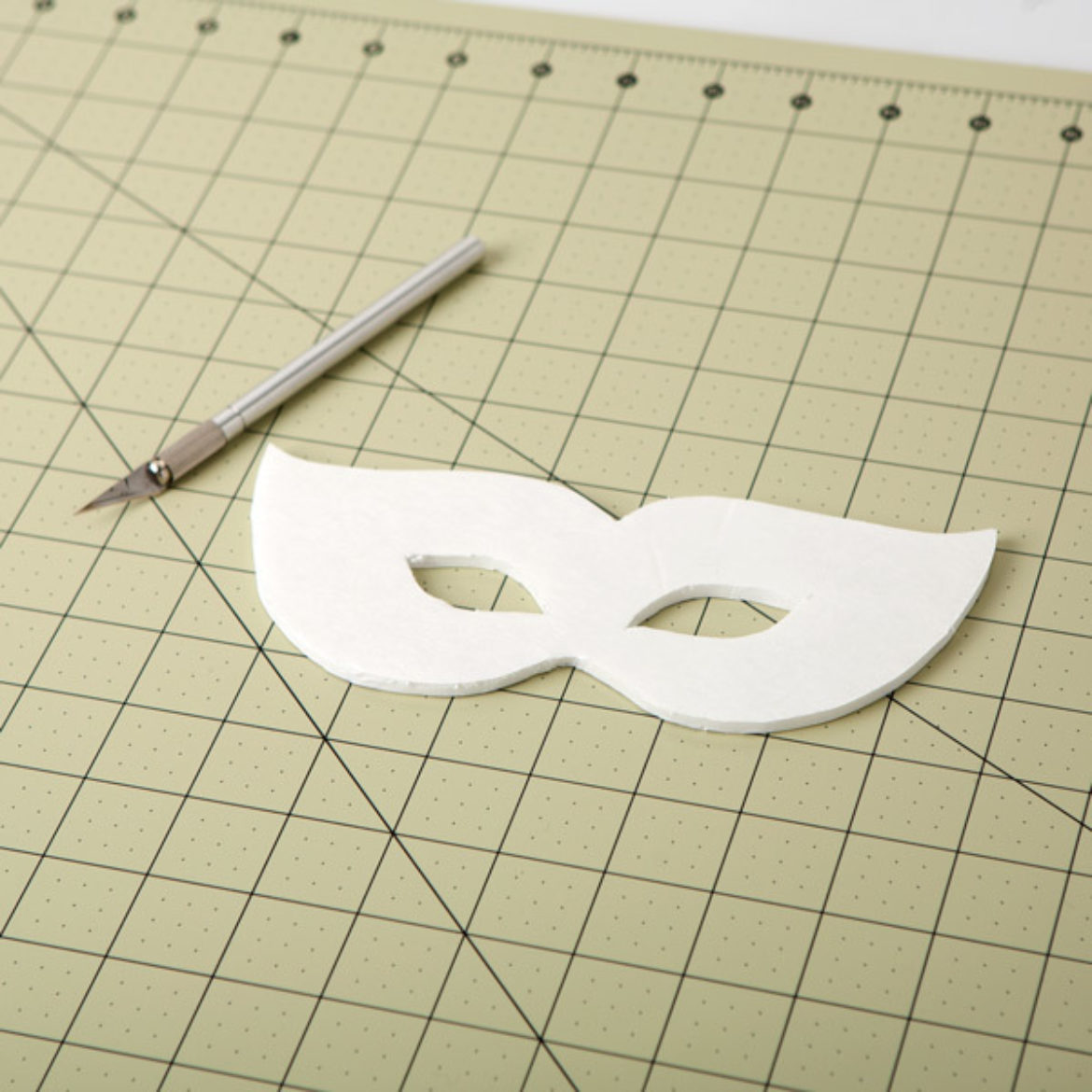 Mask drawn in the previous step cut out