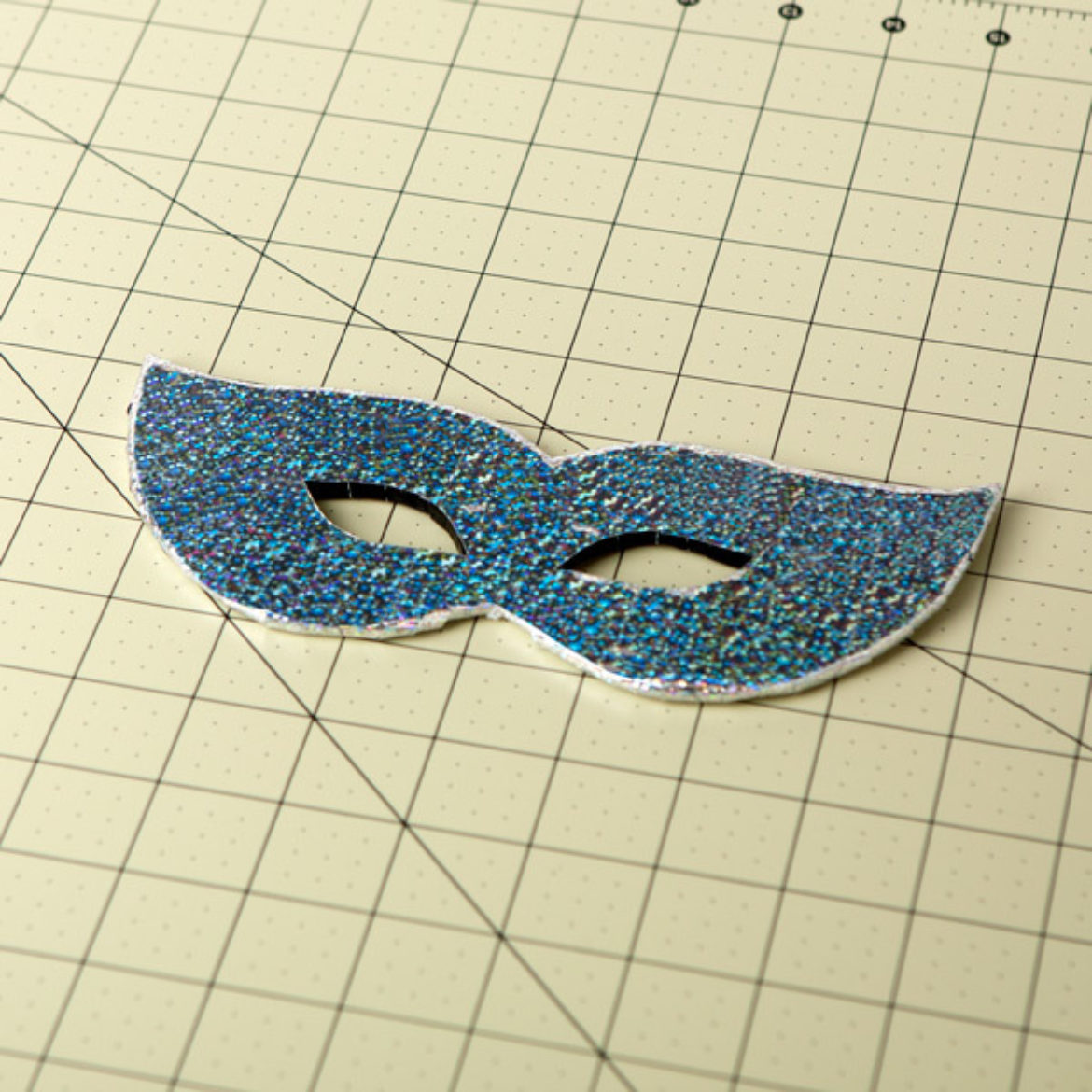 Front of the mask covered in Duck prism tape