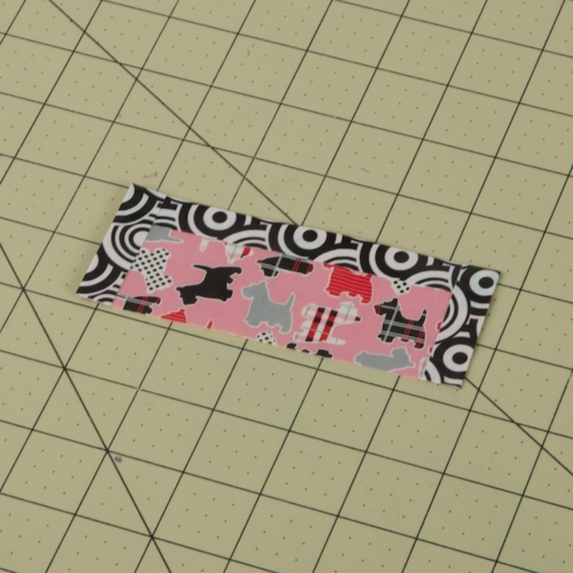 Small strips of Duck Tape on the sides to create a border