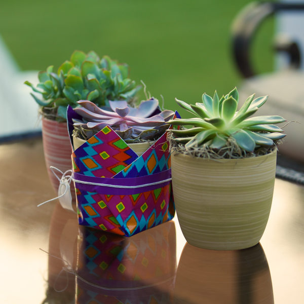 Completed Duck Tape®Plant Holder