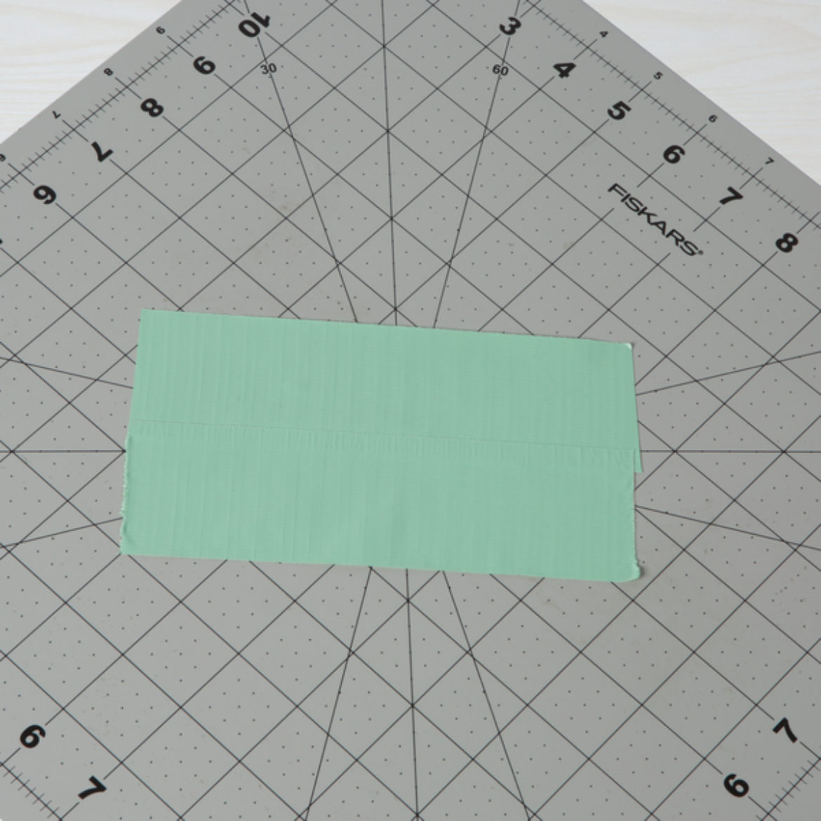 2 strips of Duck Tape overlapped to create a sticky fabric