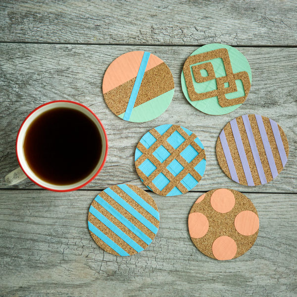 Completed Duck® Real Cork Coasters