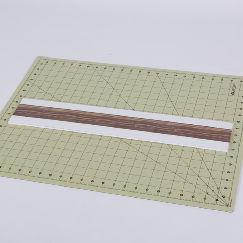 Foam core board covered in wood pattern Duck Tape