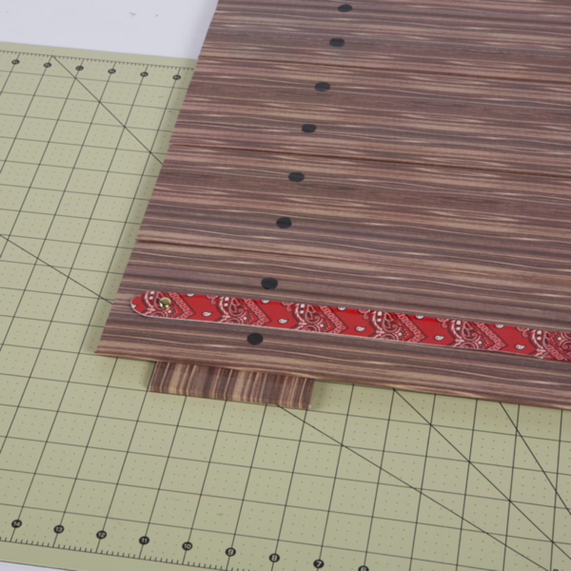 Strips made in the previous step attached to the center of the boards made in steps 1-3
