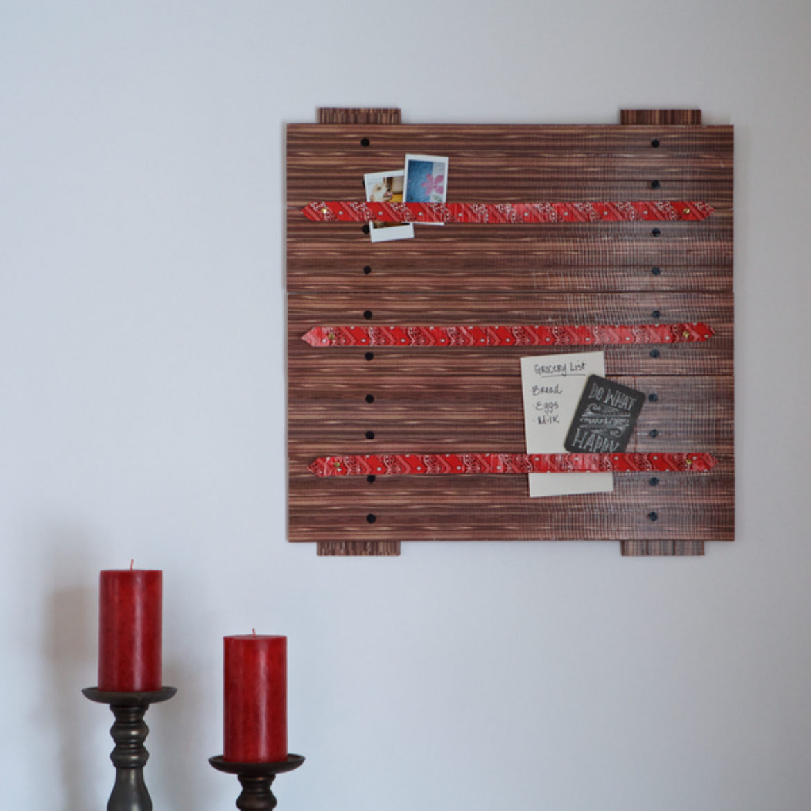 Completed Duck Tape® Ribbon Board