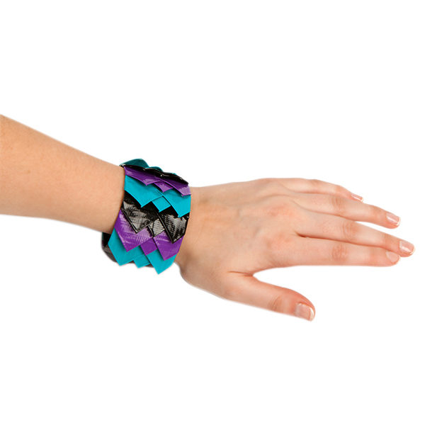 Completed Duck Tape® Scalloped Bracelet