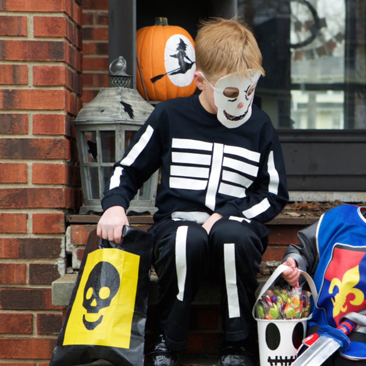 Completed Duck Tape® Skeleton Costume