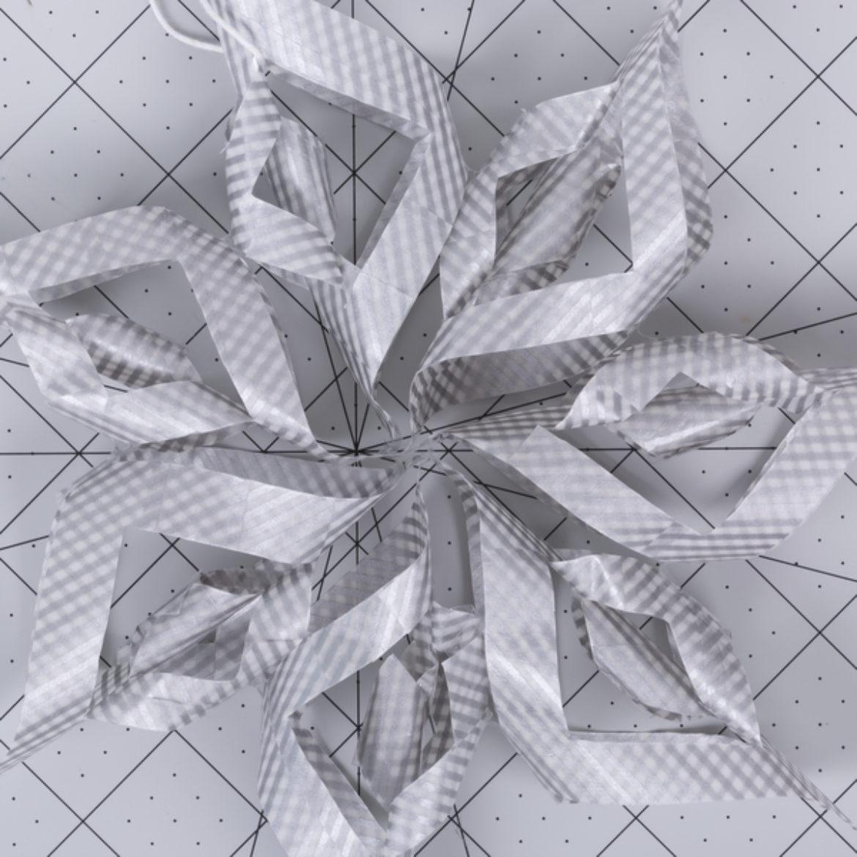 Washi Snowflake Step 8