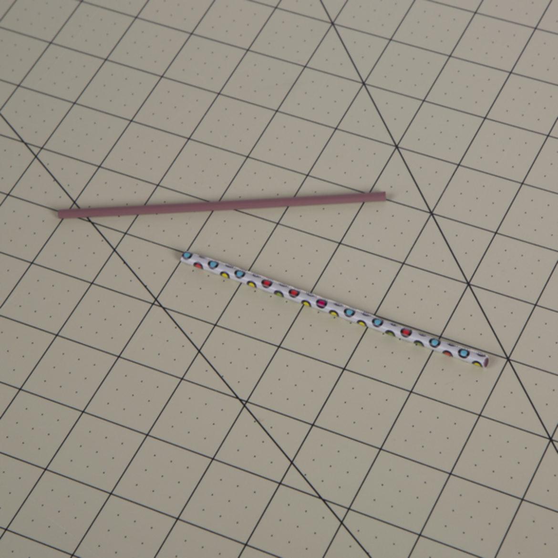 Duckling strip rolled onto a Stirring straw