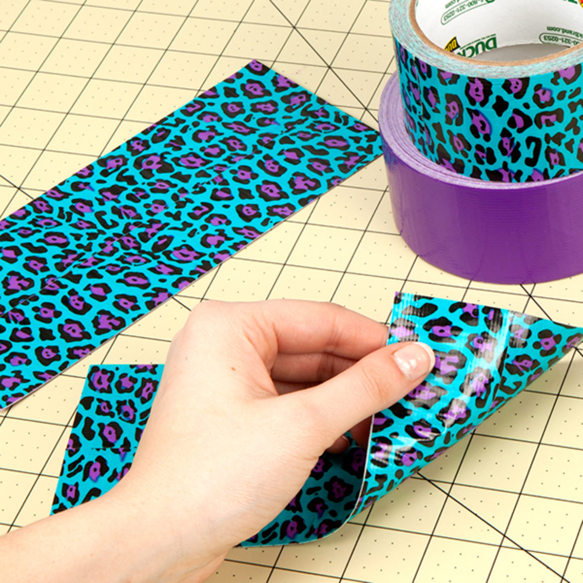 Two double sided Duck Tape fabric pieces