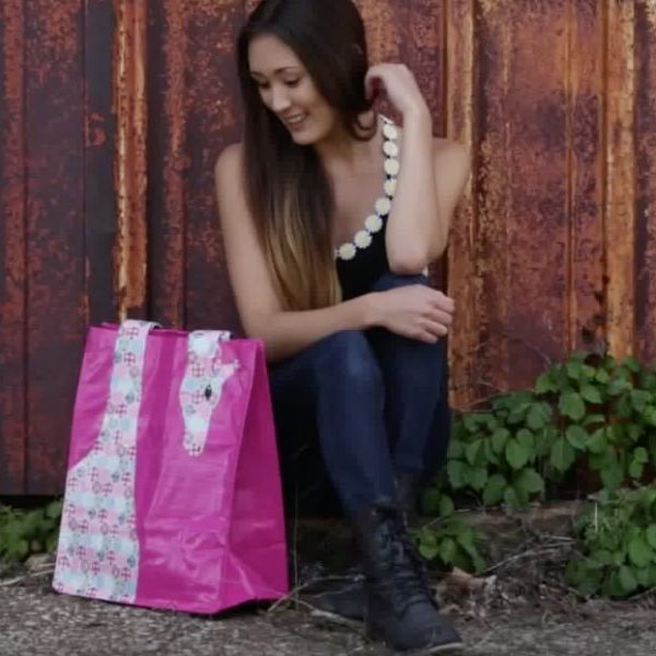Duck Tape Crafts How To Make A Giraffe Tote Bag With Laur Diy