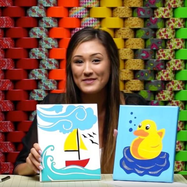 Duck Tape Crafts How To Make Layered Artwork With Laur Diy