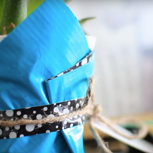 Duck Tape Crafts With Laur Diy How To Make A Plant Holder