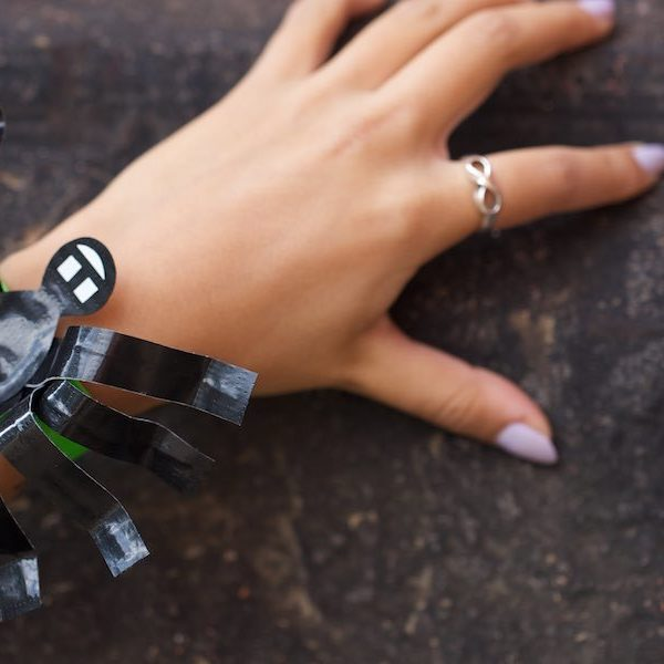 Duck Tape Crafts How To Make A Spider Bracelet For Halloween With Laur Diy